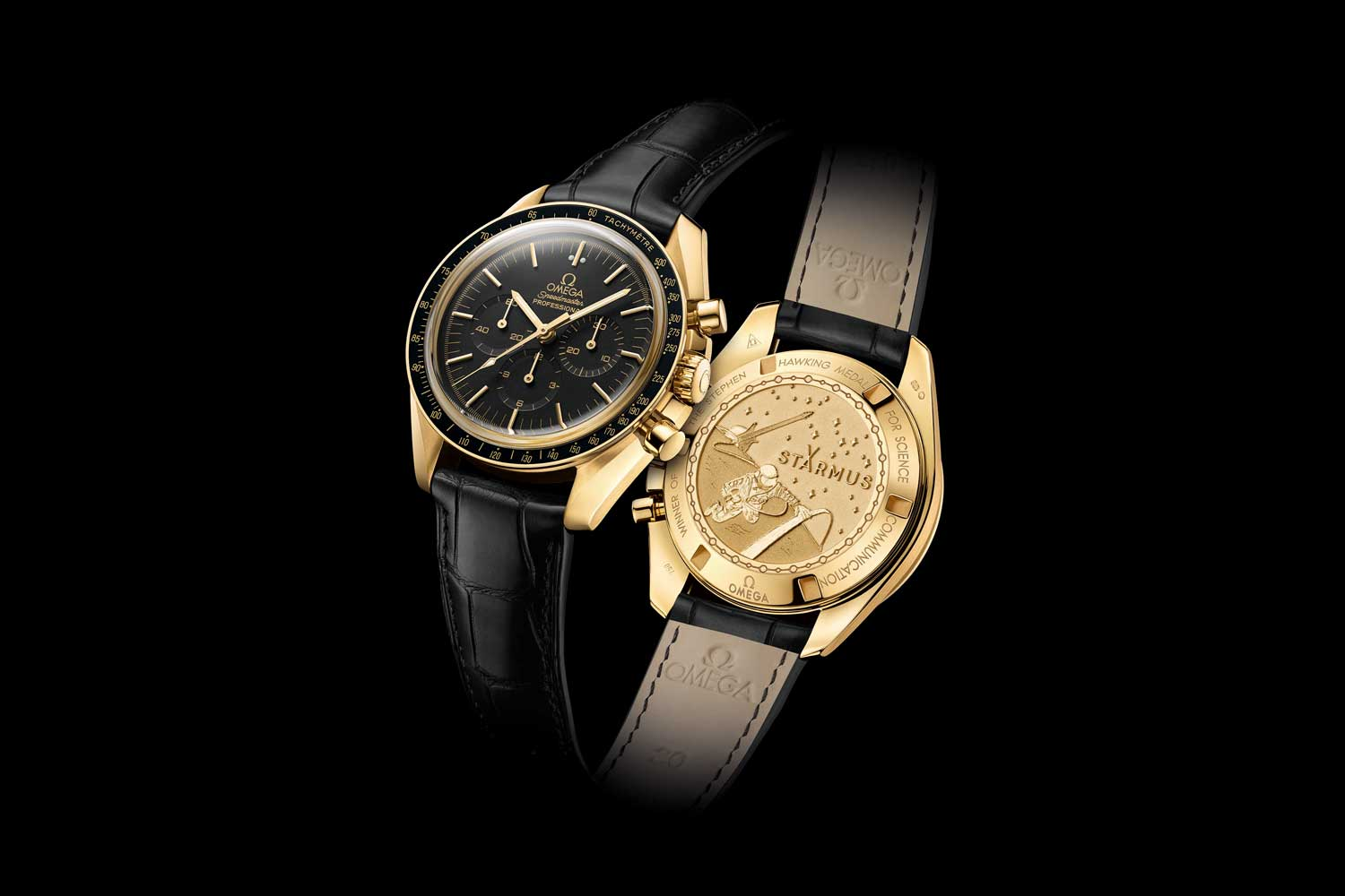Starmus OMEGA Speedmaster Moonwatch Professional Chorongraph in 18k yellow gold